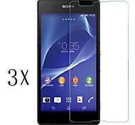 [3-Pack]Professional High Transparency LCD Crystal Clear Screen Protector with Cleaning Cloth for Sony Xperia E4