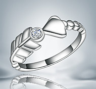 Real 925 silver ring arrow design girl band ring