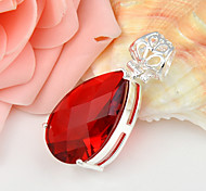 Fashion Forward Drop Fire Red Quartz Gem 925 Silver Pendants for Necklaces For Wedding Party Daily 1pc