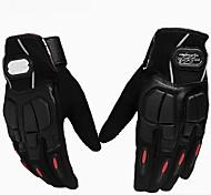 Motorrad-Handschuhe Vollfinger Polyester/Lycra/Netz M/L/XL Rot/Schwarz/Blau