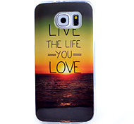 For Samsung Galaxy Case Pattern Case Back Cover Case Word / Phrase TPU Samsung S6