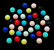 CandyPearl6mm 100pcs/lot Nail Decoration Tools Multicolor 6mm Round Candy Pearls Nail Pearls Tips DIY Nail