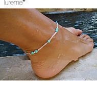 Lureme®  Europestyle Fashion Individuality Hand Make Beads Alloy Anklet