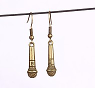 NEW Vintage Microphone Earring Drop Earrings Party/Daily 2pcs