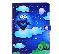 Magic Spider®Cloud and Owl Leather Wallet Full Body Case with Screen Protector for Samsung Galaxy Tab 4 10.1 T530