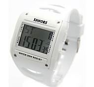 Men's Fashion Plastic Band Digital Watch