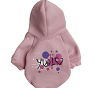 Dog Coats / Hoodies - XS / S / M / L - Winter - Pink - Cosplay - Cotton / Polar Fleece