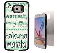 Hakuna Matata ontwerp aluminium koffer voor Samsung Galaxy s6