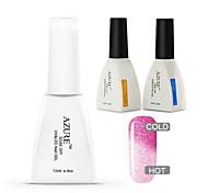 Azure 3 Pcs/Lot Temperature Changing Color Soak Off Nail Gel Nail Polish DIY for Nail Art (#38+BASE+TOP)