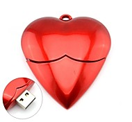 Romantic Red Heart Model USB 2.0 Memory Stick Flash Pen Drive 4GB