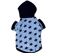 Cat / Dog Coat / Hoodie Black / Blue Winter Stars Cosplay