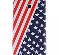 usa nationale vlag foto pu leer full body TPU geval is met kaarthouder voor Samsung Galaxy 3200 / tab 3