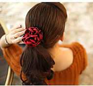 European Style Fashion Handmade Fabric Camellia Rose Hair Ties