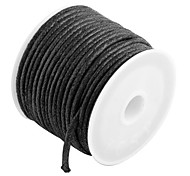 Roll Black Waxed Cotton Necklace Beads Cord String 2mm HOT