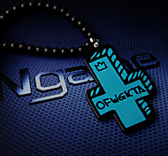 Blue Cross Hiphop Necklace