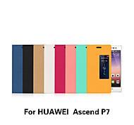 Tuta con Windows / Auto sospendione/riattivazione / Capovolgere Tinta unita Similpelle Difficile Copertura di caso per HuaweiHuawei P7 /