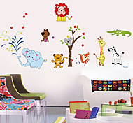 Wall Stickers Wall Decals, Animal Party PVC Wall Stickers