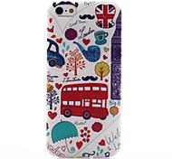 auto patroon TPU zacht materiaal telefoon Case voor iPhone 5 / 5s