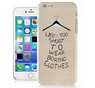 Kleiderbügel auf Englisch Muster transparent Telefonkasten der rückseitigen Abdeckung für iphone6 Fall