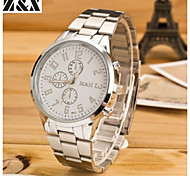 relógio de diamante moda quartzo correia de aço analógico dos homens (cores sortidas)