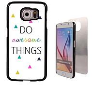 machen tolle Sachen Design Aluminium Etui für Samsung-Galaxie s6