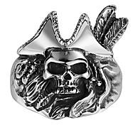 Stainless Steel Fashion Men's Pirate Skull Rings Gothic Punk Style Vintage Biker Man Jewelry GMYR143