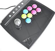 ps2 / ps3 / pc usb 2 en 1 universal de stick arcade de lucha (tamaño grande)