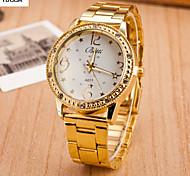 Lady'S Fashion Lady Sun Flower Dial Diamond-Encrusted Bracelet With Steel Band Quartz Watch