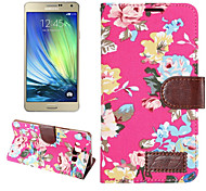 de haute qualité du grain de tissu pu titulaire de portefeuille en cuir bascule étui de téléphone pour Samsung Galaxy a7 (couleur mixte)