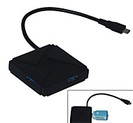 Type-c to 4 Ports HUB USB 3.0 - Black