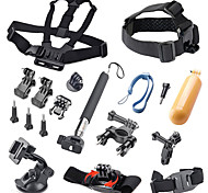17pcs Gopro Accessories Mount / Monopod / Straps / Screw / Buoy / Suction / Hand Grips ForGopro Hero 1 / Gopro Hero 2 / Gopro Hero 3 /