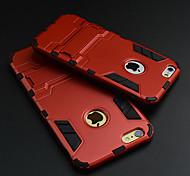 ultrafino da Apple caso difícil tampa protetora com kickstand para iphone 6s 6 mais