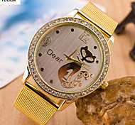 Women's Fashion Watch Swiss Designer Quartz Alloy Band Elegant Gold