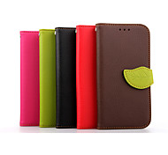 Luxury Leather Skin Card Holder Stand Magnetic For HTC One M8 Phone Flip Cases Shell Leaf Pouch Wallet + Lanyard