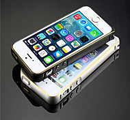 Deluxe Ultra Thin Metal Frame Bumper For iPhone 5 Slim Bumper Gold Stripe Safe Buckle Bumper For iPhone 5s