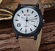 Men's Fashion Military Design PU Leather Strap Quartz Wrist Watch