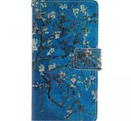 Printed Inside And Outside Blue Plum Blossom Patterns Leather Full Body Case for Samsung Galaxy S3 I9300
