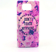 Don't Touch MY Phone Pattern PC Hard Case for Samsung Galaxy Alpha G850 G850F G8508S G8509V Back Cover