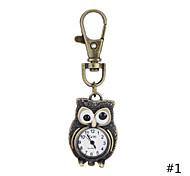 Hot Sale Unique Design Vintage Antique style Owl Pocket Watch Key Chain Watch For Men Women