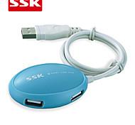 SSK® USB 2.0 SHU017 4-Port High-speed USB HUB USB 2.0 USB HUB