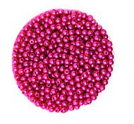 beadia 58g (ca. 2000pcs) 4mm lang abs Perlen fuchsia Farbe Kunststoff-Perlen