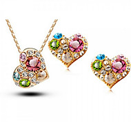 Z&X® Alloy Fashion Colorful Heart Shaped Jewelry Set Party/Daily 1set(Including Necklaces/Earrings)