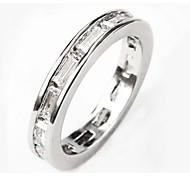 Size 6/7/8 High Quality Women White Sapphire Rings 10KT White Gold Filled Ring