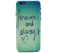 COCO FUN® Green Word Pattern Hard PC IMD Back Case Cover for iPhone 6