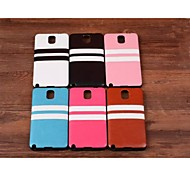 Striped Paste Paper TPU Back Cover for Samsung Galaxy Note 3 (Assorted Colors)