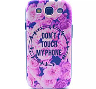 Flowers Pattern PC Hard Case for Samsung S3 I9300