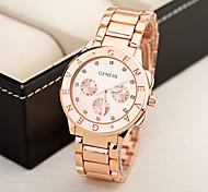New Brand Fashion Geneva watch men and women fashion Unisex Watch Diamond design alloy Band Watch