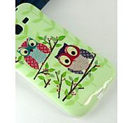 Owl couple Cartoon Pattern Design Pattern Protective TPU Soft Case for Samsung Galaxy Grand Neo I9060
