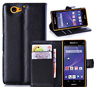 Litchi Around Open Bracket Leather Phone Wallet Card Suitable for Sony Xperia A2(Assorted Color)