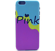 Pink Milk Pattern Plastic Hard Cover for iPhone 6